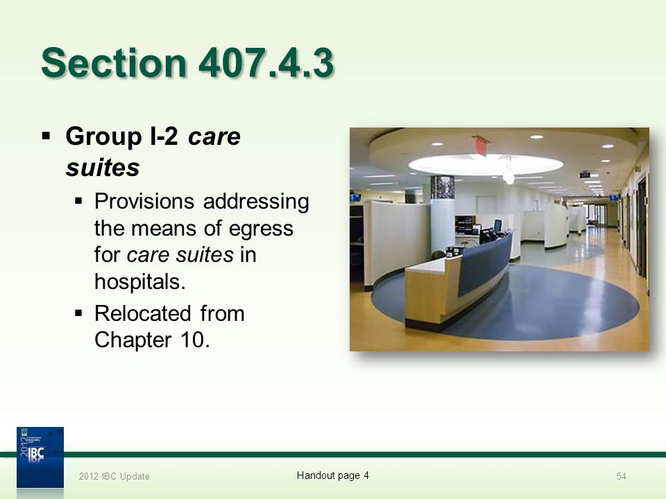Section 407.4.3 Group I-2 care suites