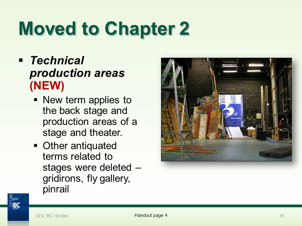 Moved to Chapter 2 Technical production areas (NEW)