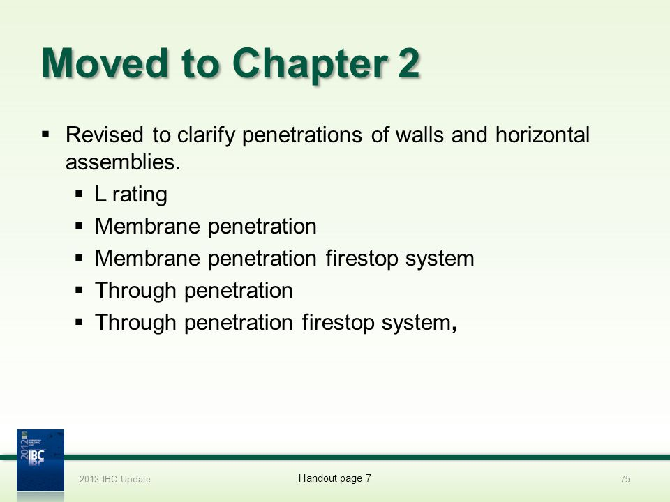 2012 IBC Update 4/1/2017. Moved to Chapter 2. Revised to clarify penetrations of walls and horizontal assemblies.