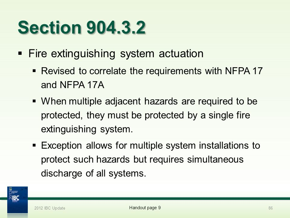 Section 904.3.2 Fire extinguishing system actuation