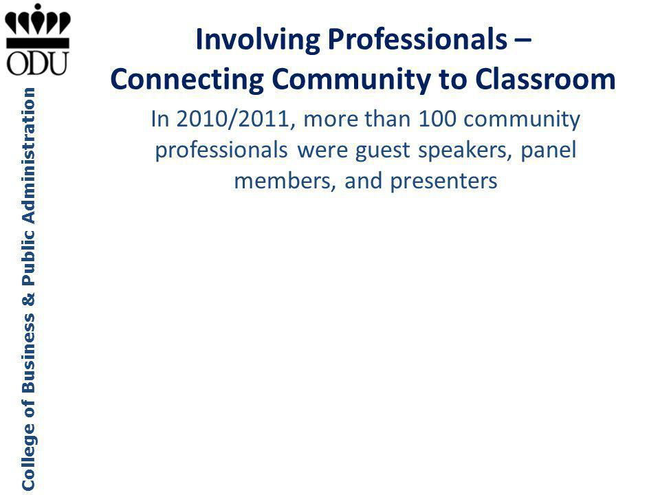 Involving Professionals – Connecting Community to Classroom