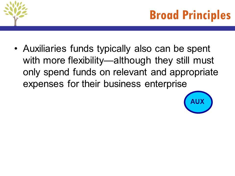 Broad Principles