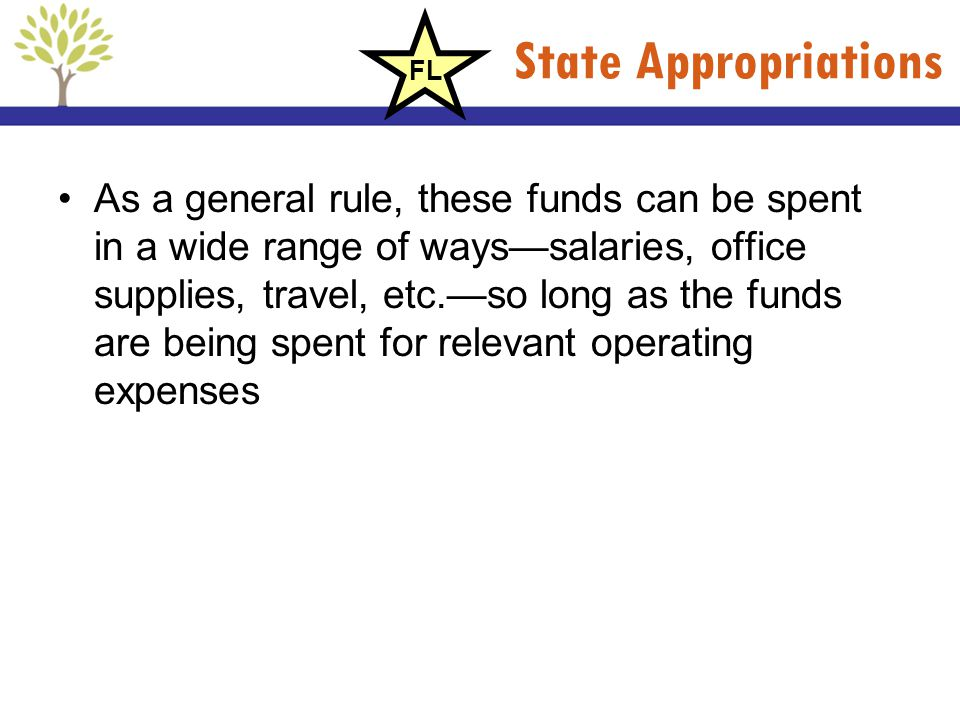 State Appropriations FL.