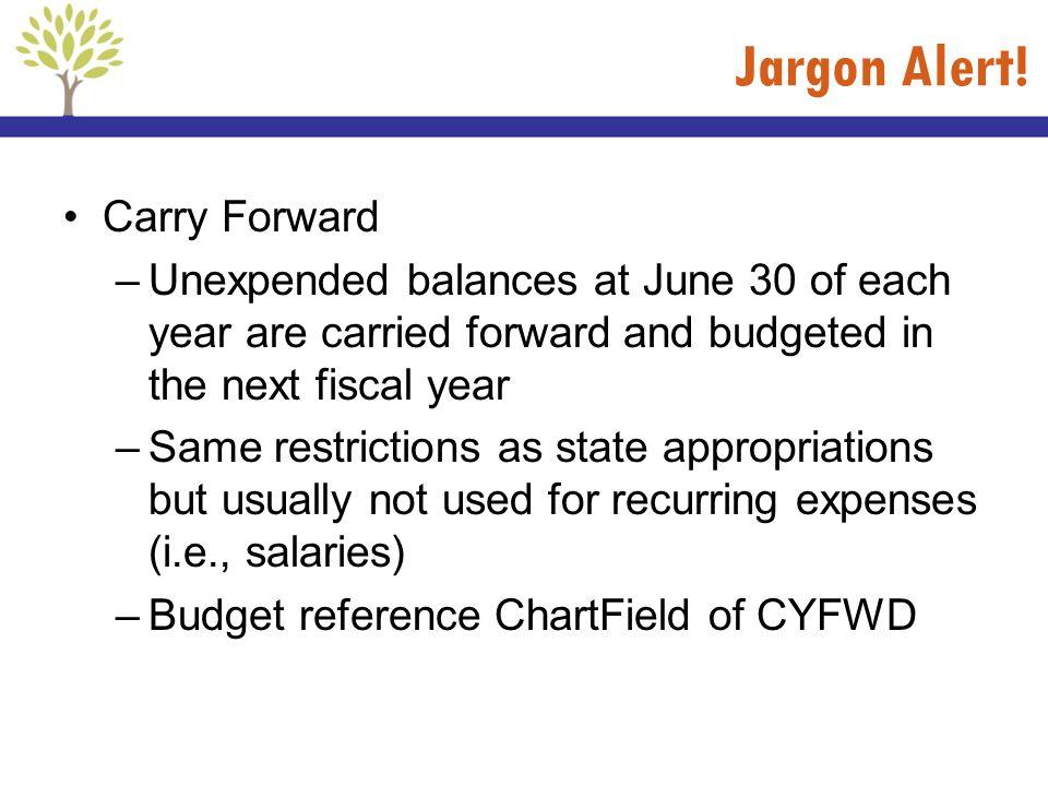Jargon Alert! Carry Forward