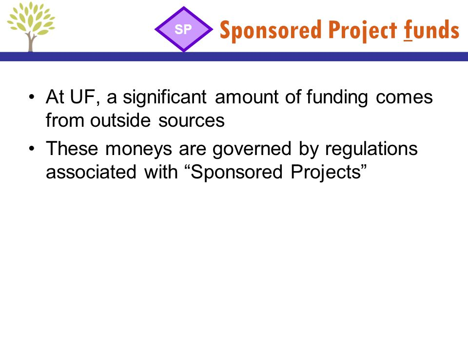 Sponsored Project funds
