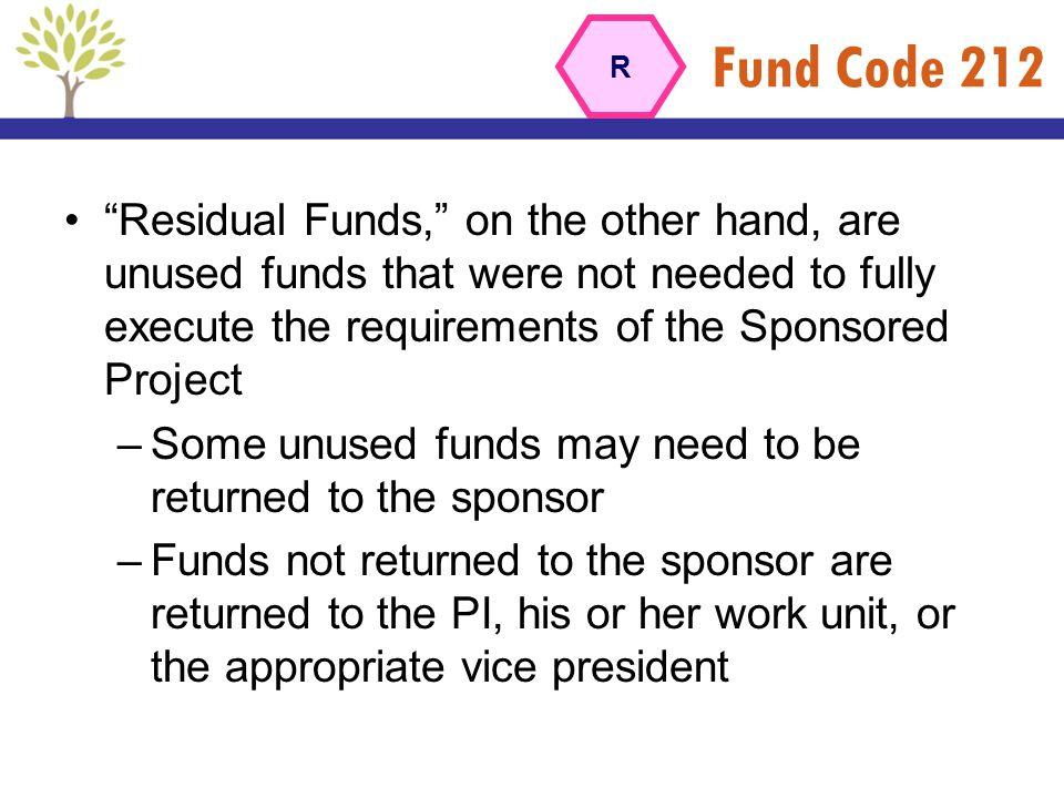 Fund Code 212 R.