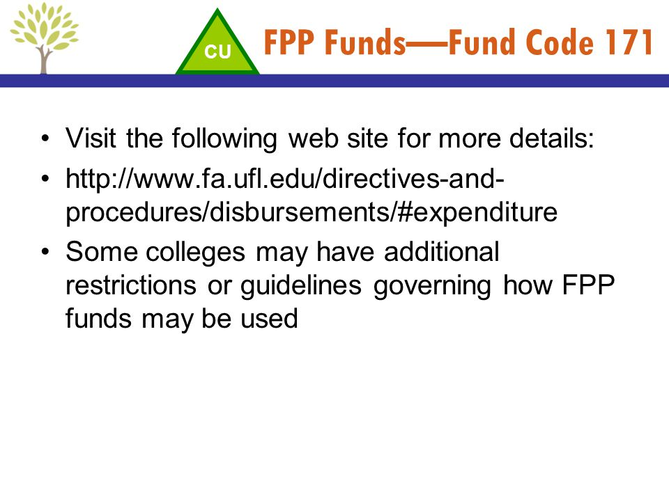 FPP Funds—Fund Code 171 Visit the following web site for more details:
