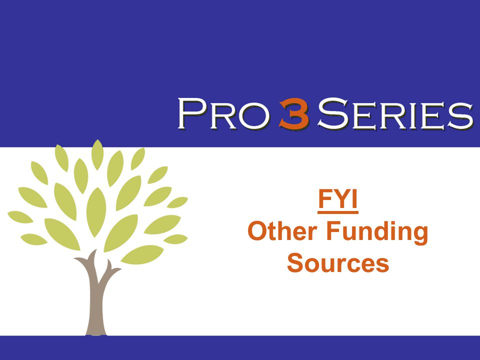 FYI Other Funding Sources