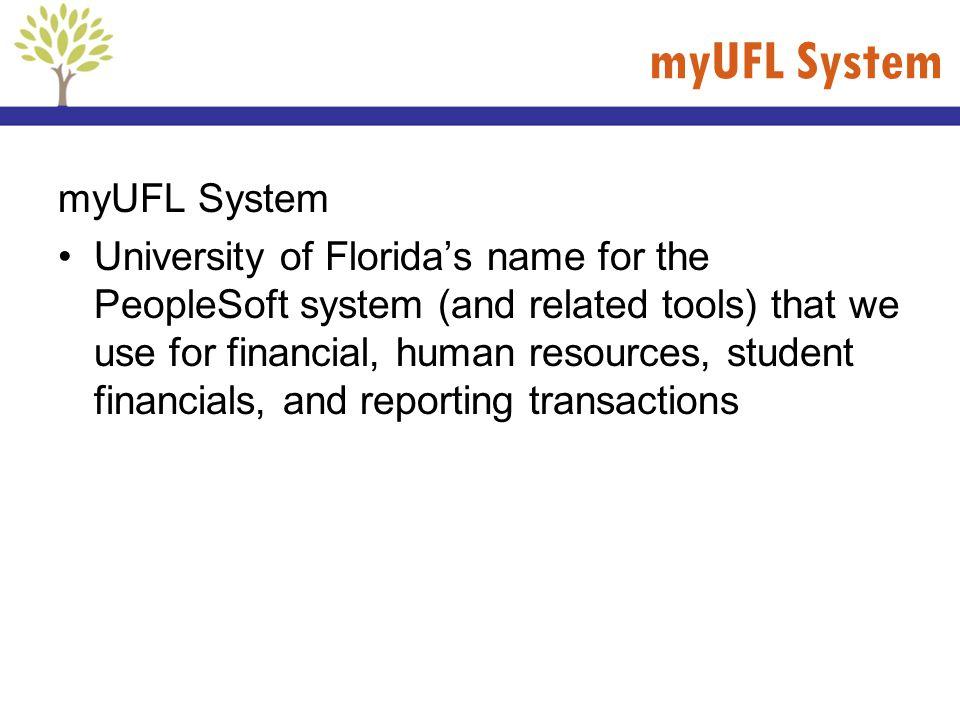 myUFL System myUFL System
