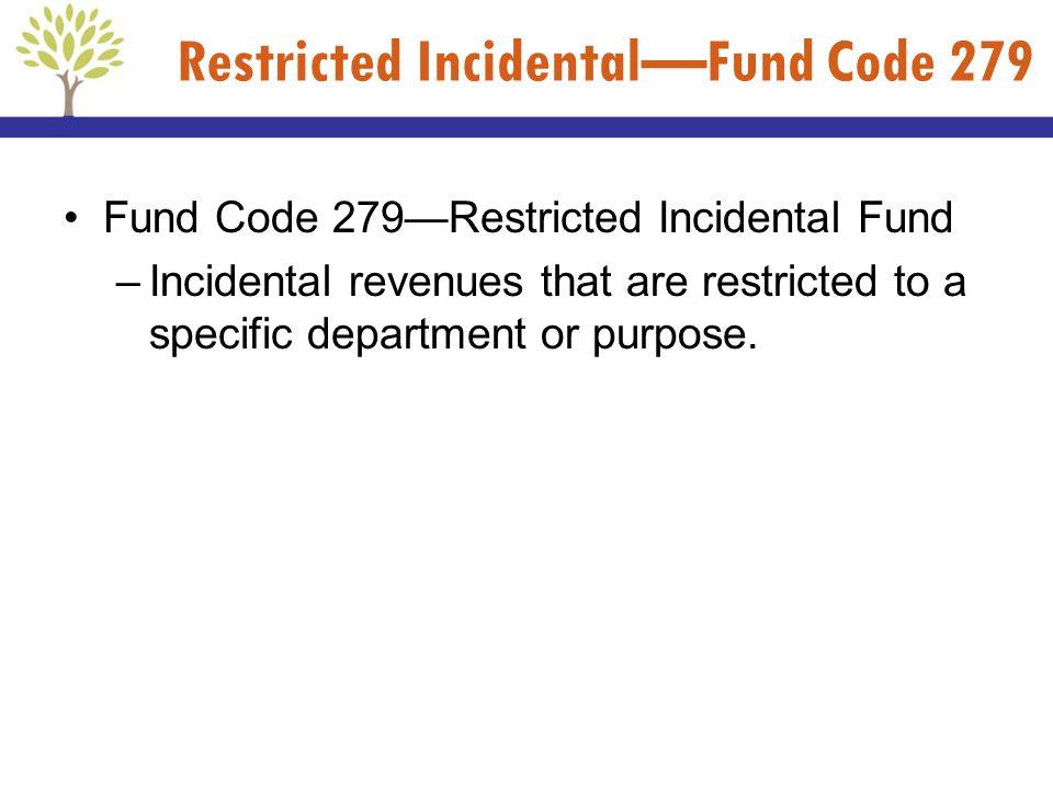 Restricted Incidental—Fund Code 279