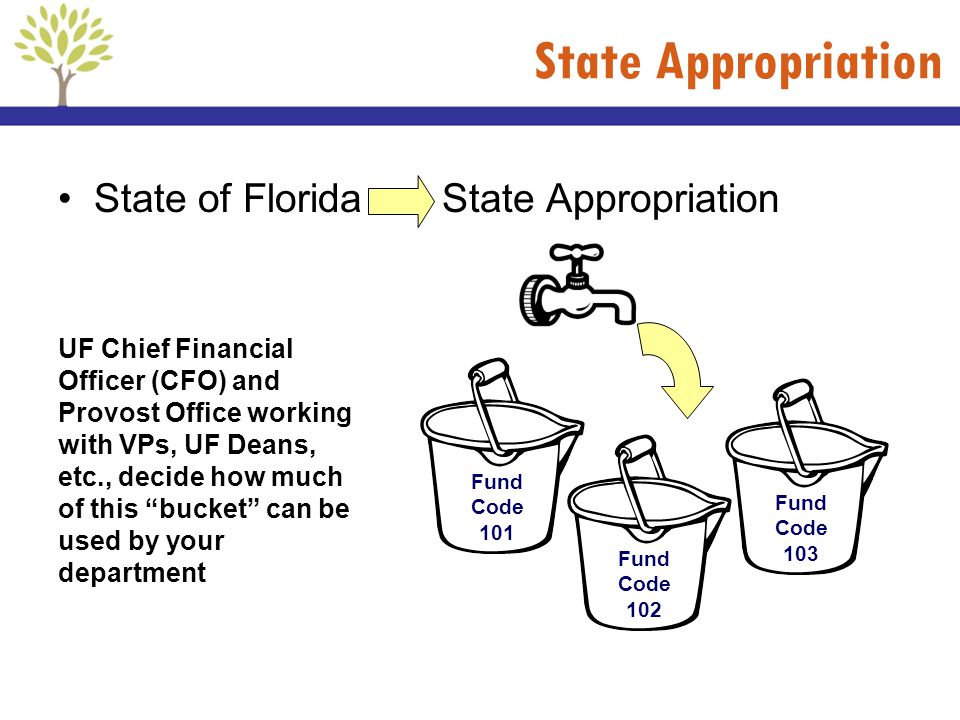 State Appropriation State of Florida State Appropriation