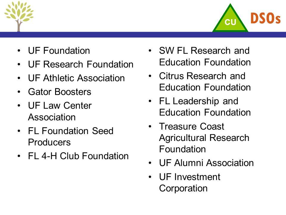 DSOs UF Foundation UF Research Foundation UF Athletic Association