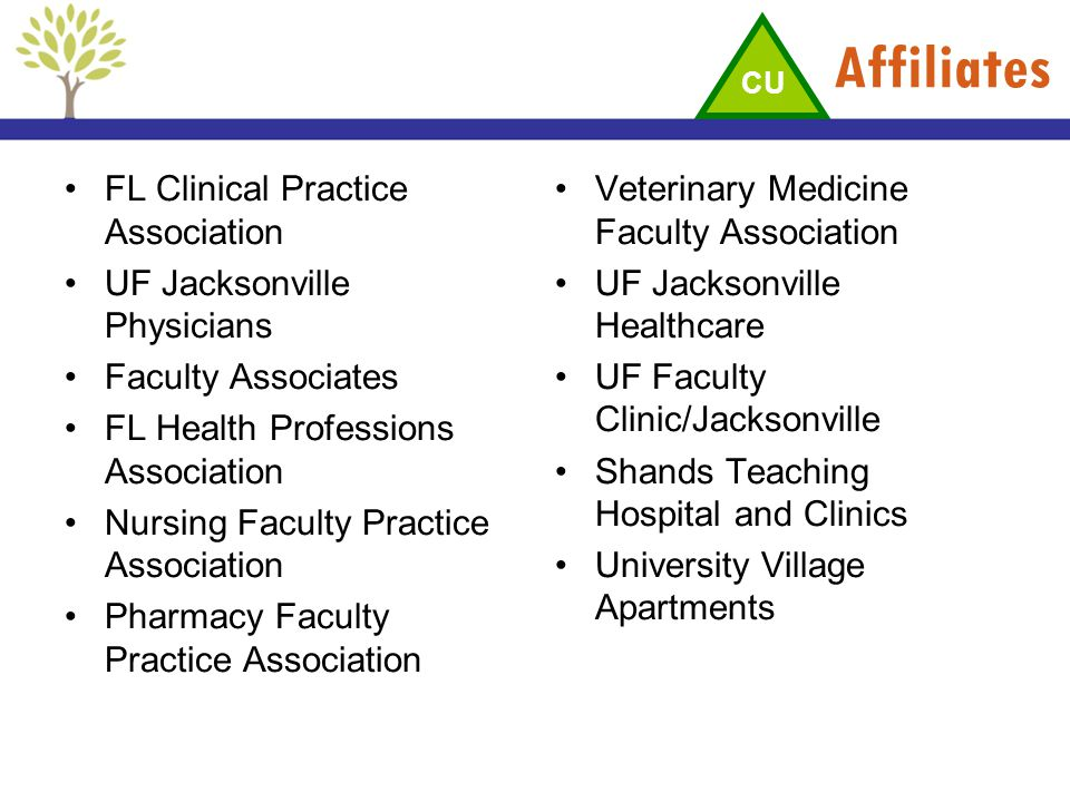 Affiliates FL Clinical Practice Association UF Jacksonville Physicians