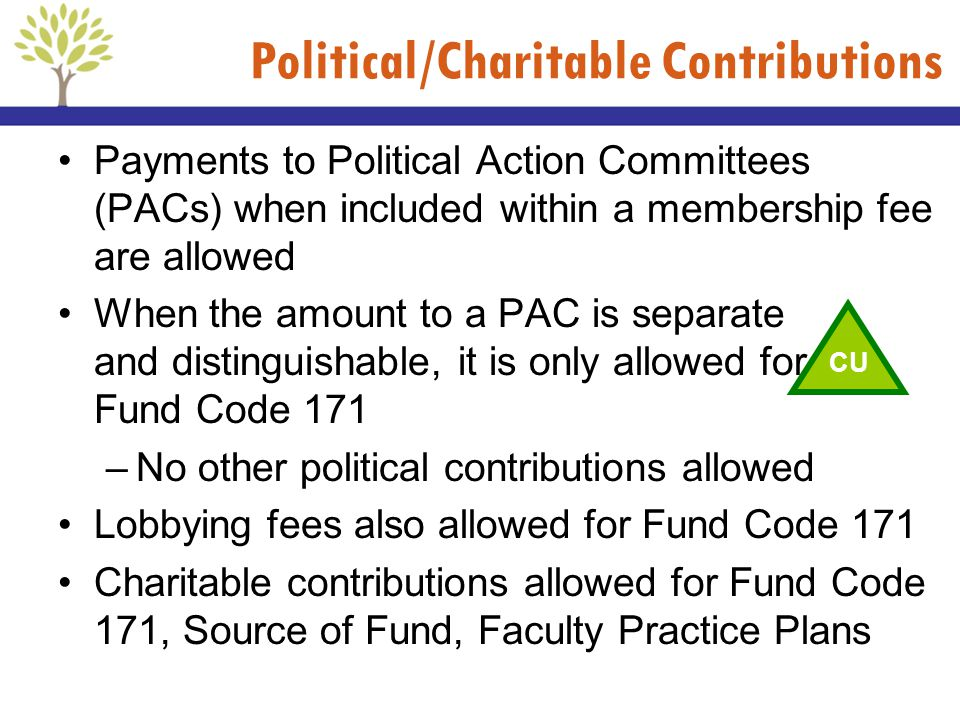 Political/Charitable Contributions