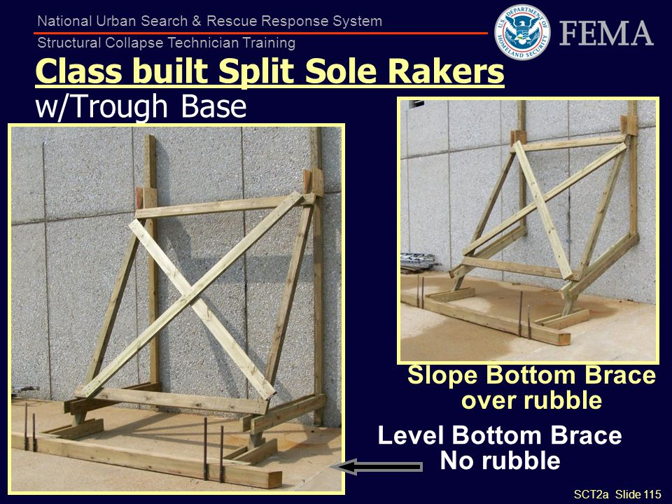 Class built Split Sole Rakers w/Trough Base