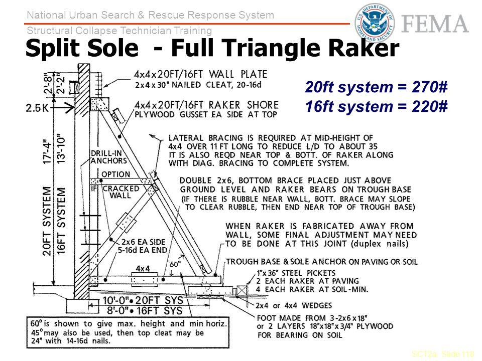 Split Sole - Full Triangle Raker
