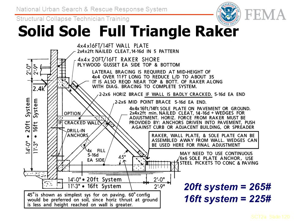 Solid Sole Full Triangle Raker