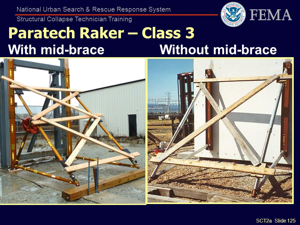 Paratech Raker – Class 3 With mid-brace Without mid-brace