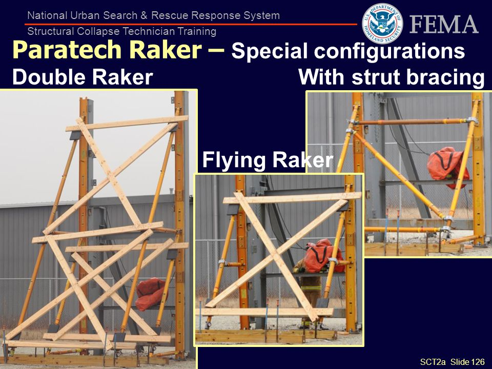 Paratech Raker – Special configurations Double Raker With strut bracing