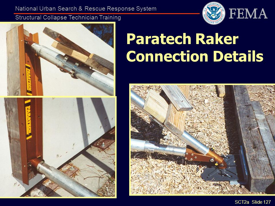 Paratech Raker Connection Details