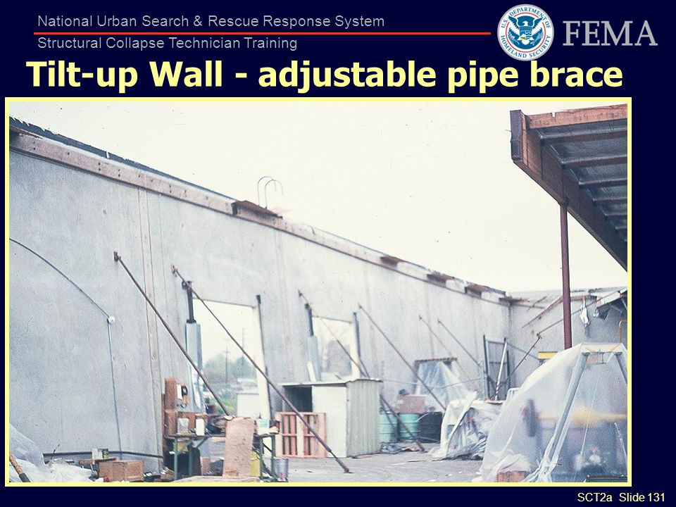 Tilt-up Wall - adjustable pipe brace
