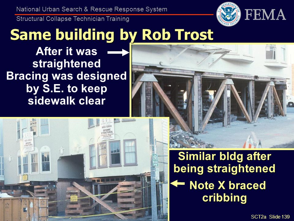 Same building by Rob Trost Similar bldg after being straightened