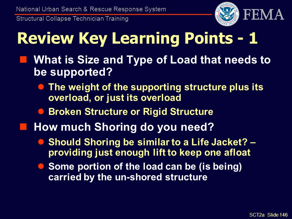 Review Key Learning Points - 1