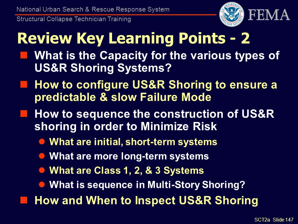 Review Key Learning Points - 2