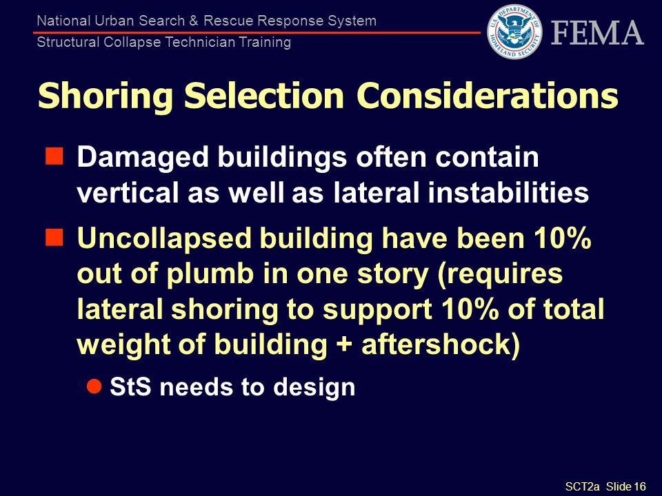Shoring Selection Considerations