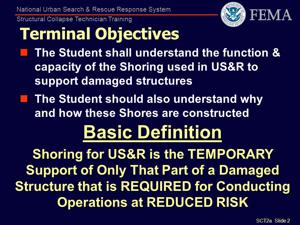 Basic Definition Terminal Objectives