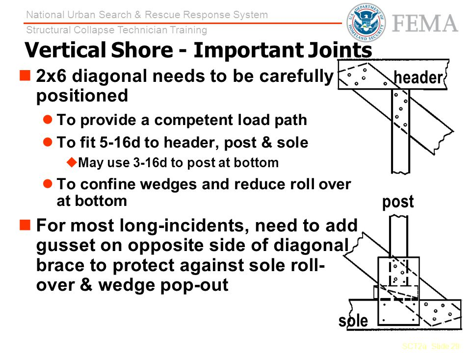 Vertical Shore - Important Joints