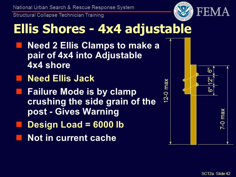 Ellis Shores - 4x4 adjustable
