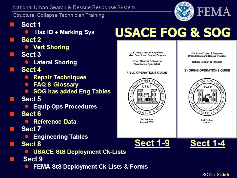 USACE FOG & SOG Sect 1-9 Sect 1-4