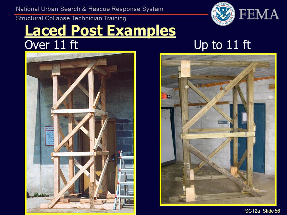 Laced Post Examples Over 11 ft Up to 11 ft