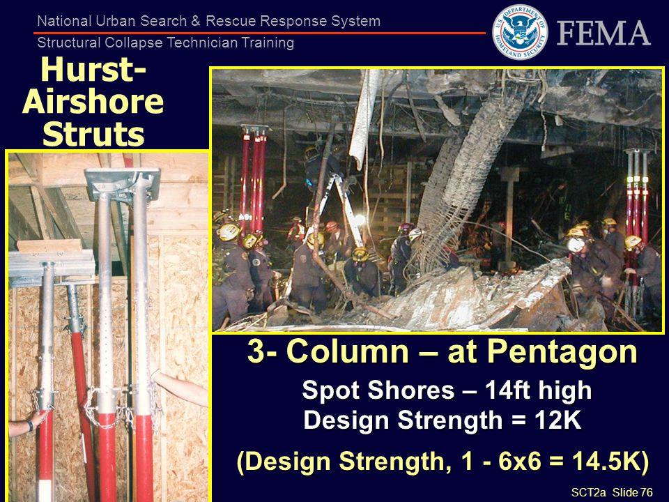 Spot Shores – 14ft high Design Strength = 12K
