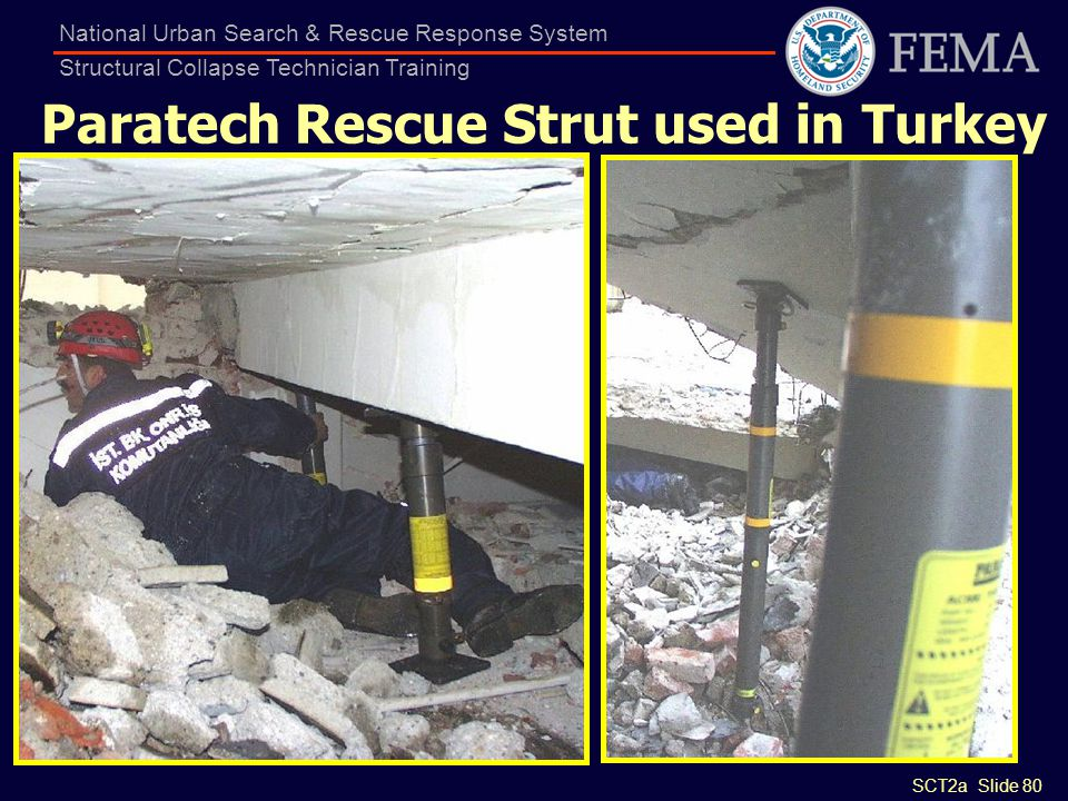 Paratech Rescue Strut used in Turkey