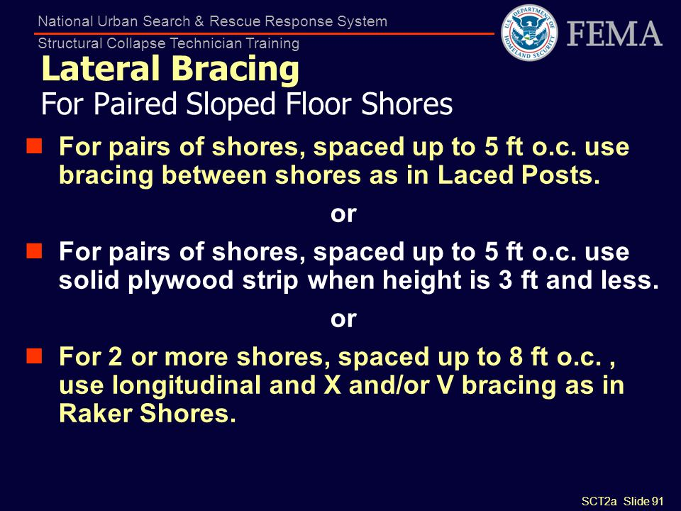 Lateral Bracing For Paired Sloped Floor Shores