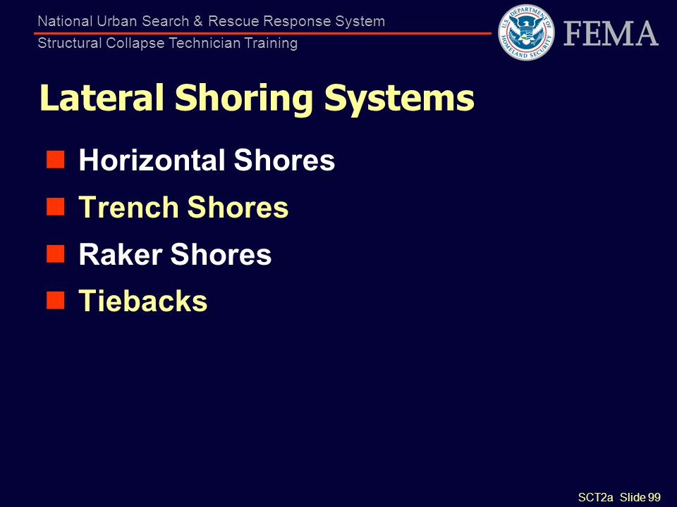 Lateral Shoring Systems