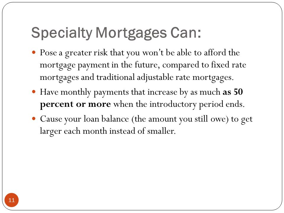 Specialty Mortgages Can: