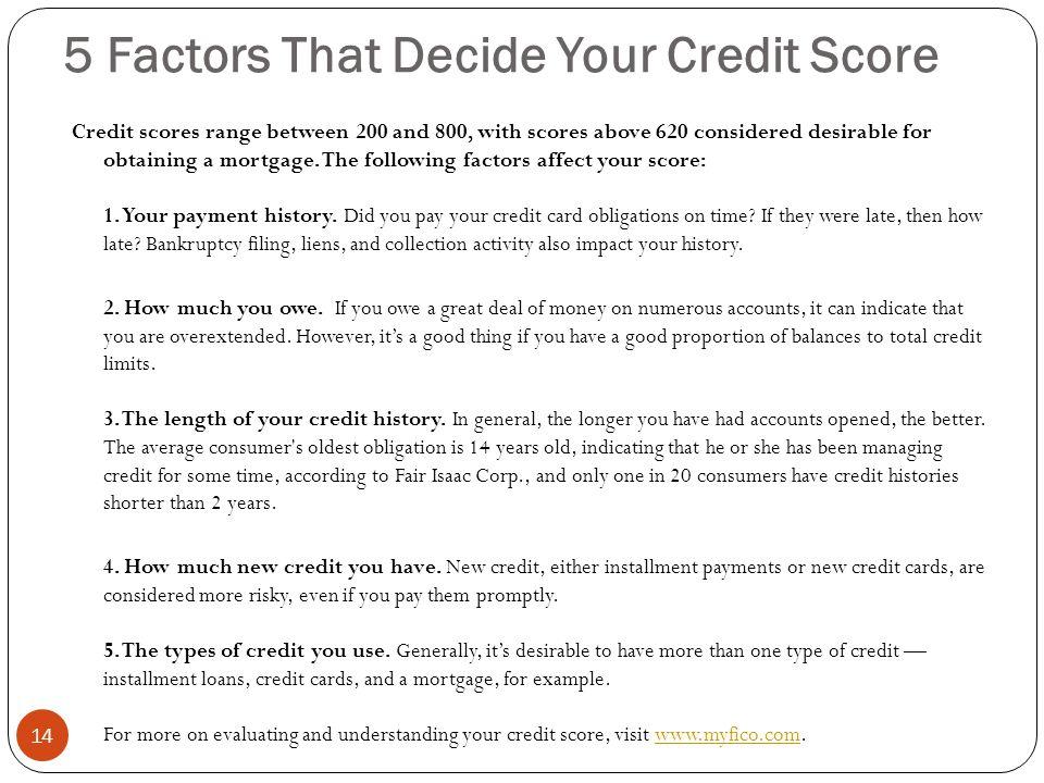 5 Factors That Decide Your Credit Score