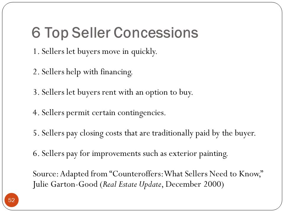 6 Top Seller Concessions