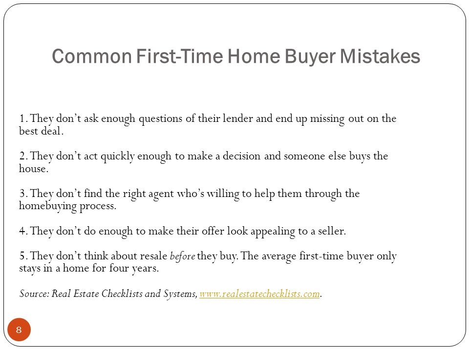 Common First-Time Home Buyer Mistakes