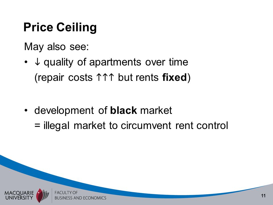 Price Ceiling May also see:  quality of apartments over time