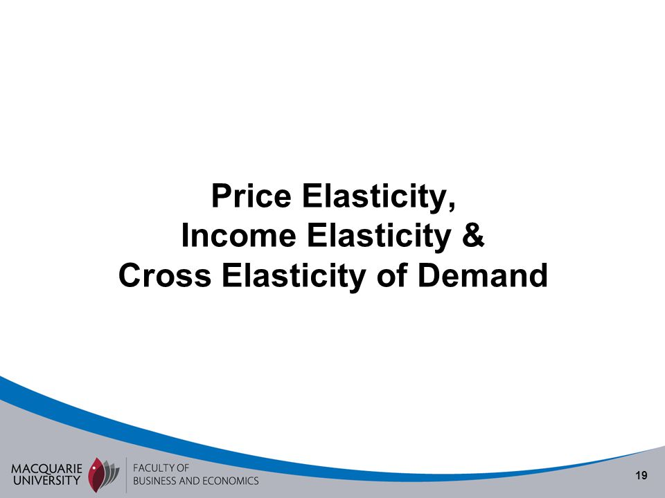 Price Elasticity, Income Elasticity & Cross Elasticity of Demand