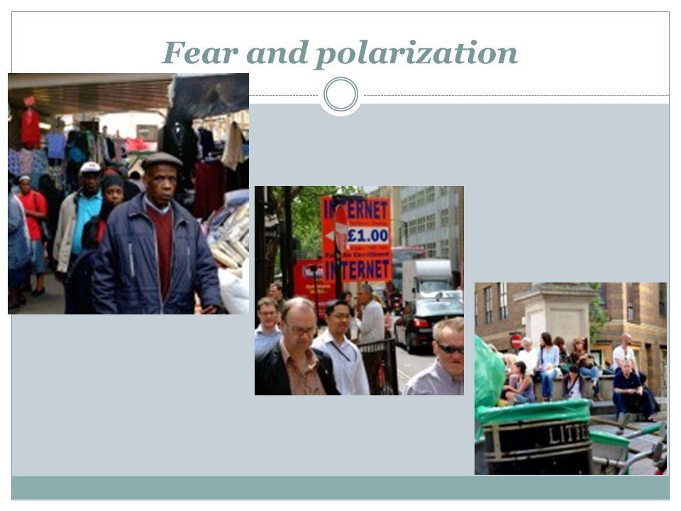 Fear and polarization