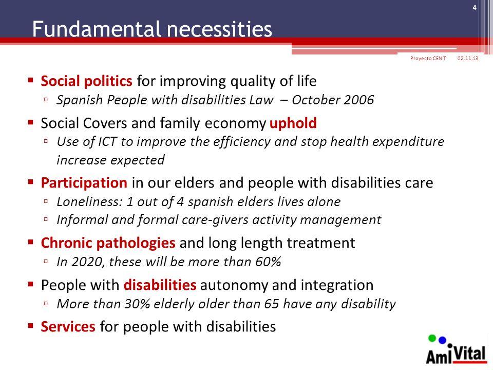 Fundamental necessities