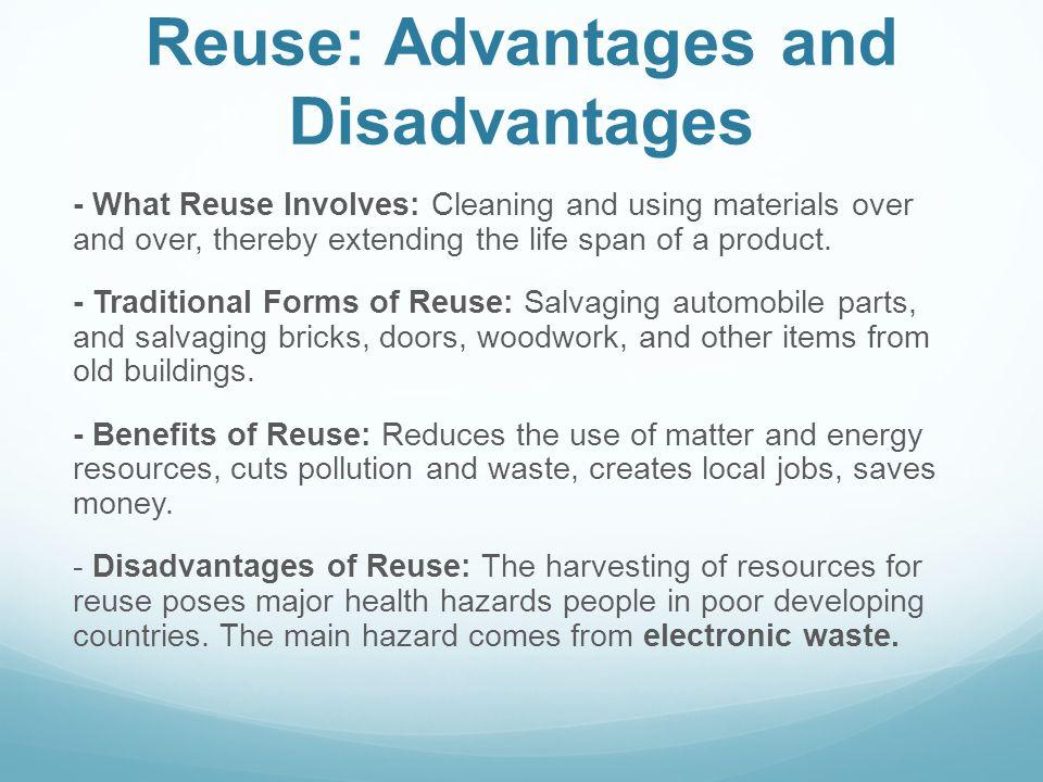 Reuse: Advantages and Disadvantages