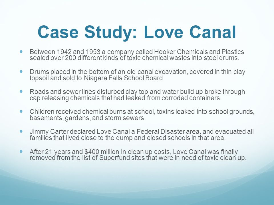 Case Study: Love Canal