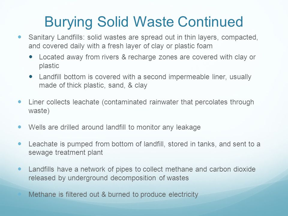 Burying Solid Waste Continued