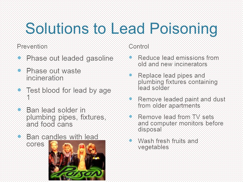 Solutions to Lead Poisoning